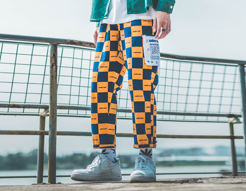 SubCrude Checkerboard Joggers - Clout Collection High Fashion Streetwear Men's and Women's