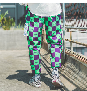 SubCrude Checkerboard Joggers - CLOUT COLLECTION