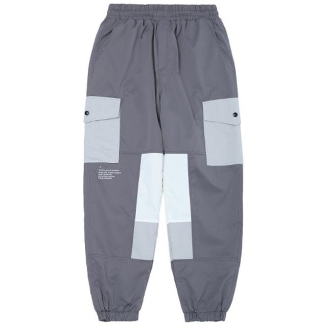 Casual Harem Joggers with Cubic Design - CLOUT COLLECTION