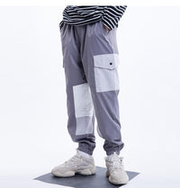 Casual Harem Joggers with Cubic Design - Clout Collection High Fashion Streetwear Men's and Women's