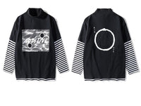 Long Sleeve Tee with Unity Print - Clout Collection High Fashion Streetwear Men's and Women's