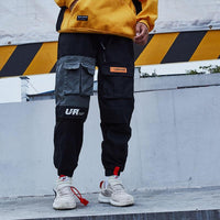 Urban Recipe Joggers with Cautionary Print - Clout Collection High Fashion Streetwear Men's and Women's