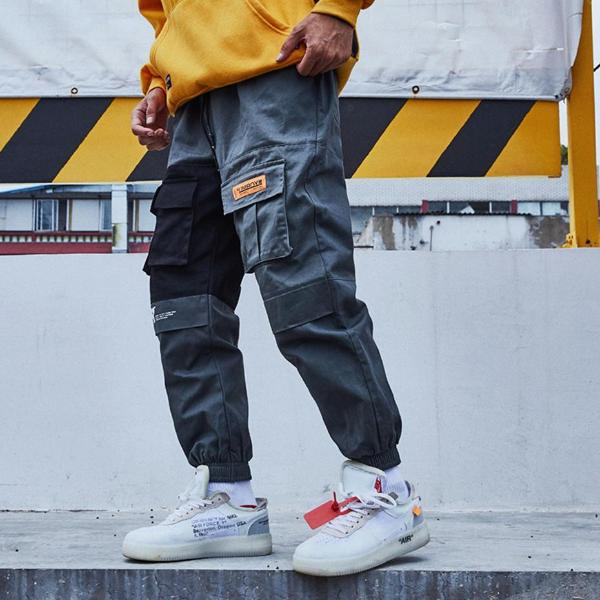 Urban Recipe Joggers with Cautionary Print - CLOUT COLLECTION