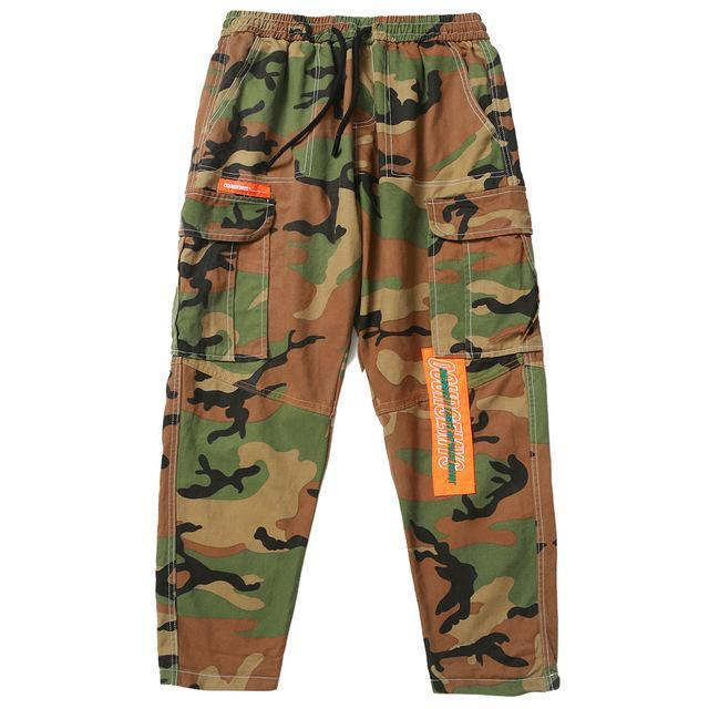 Fubar Camo Cargo Pants In Loose Fit - CLOUT COLLECTION