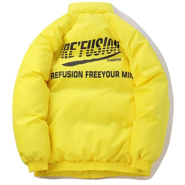 Re'Fusion Down Puffer with Freedom Print - CLOUT COLLECTION
