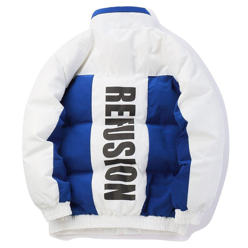 Re'Fusion Down Puffer with Colorblock Design - CLOUT COLLECTION