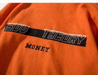 Money Theory Roll Neck Fleece Jumper - Clout Collection High Fashion Streetwear Men's and Women's