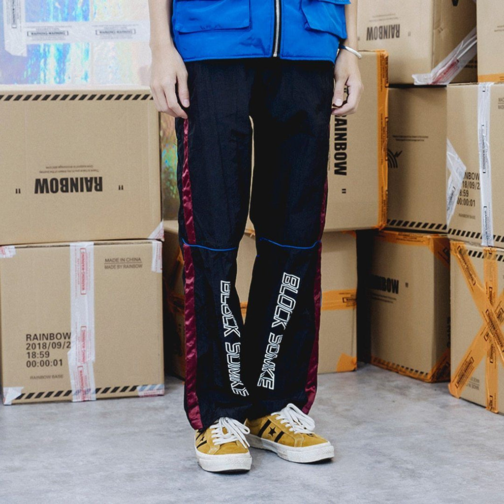 Spliced Parachute Track Pants - CLOUT COLLECTION