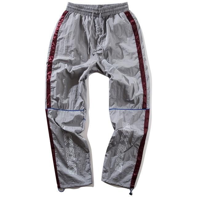 Spliced Parachute Track Pants - Clout Collection High Fashion Streetwear Men's and Women's