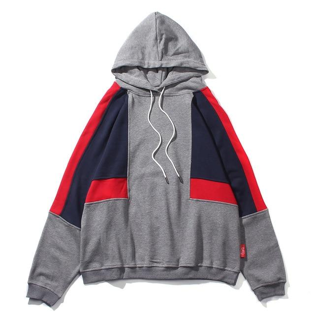 U4 Cotton Hoodie with Colorblock Design - CLOUT COLLECTION