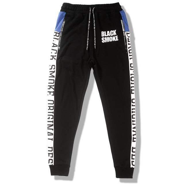 Black Smoke Joggers in Slim Fit - Clout Collection High Fashion Streetwear Men's and Women's