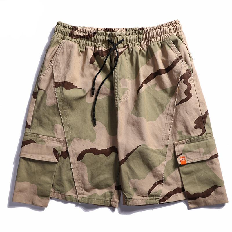 Cotton Shorts in Desert Camo - Clout Collection High Fashion Streetwear Men's and Women's