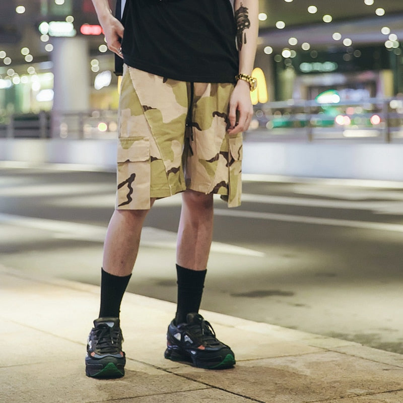 Cotton Shorts in Desert Camo - CLOUT COLLECTION