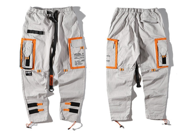 UNI-ROY Belted Cargo Joggers - Clout Collection High Fashion Streetwear Men's and Women's