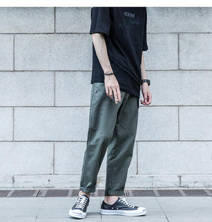 Cotton Twill Tapered Chinos - Clout Collection High Fashion Streetwear Men's and Women's