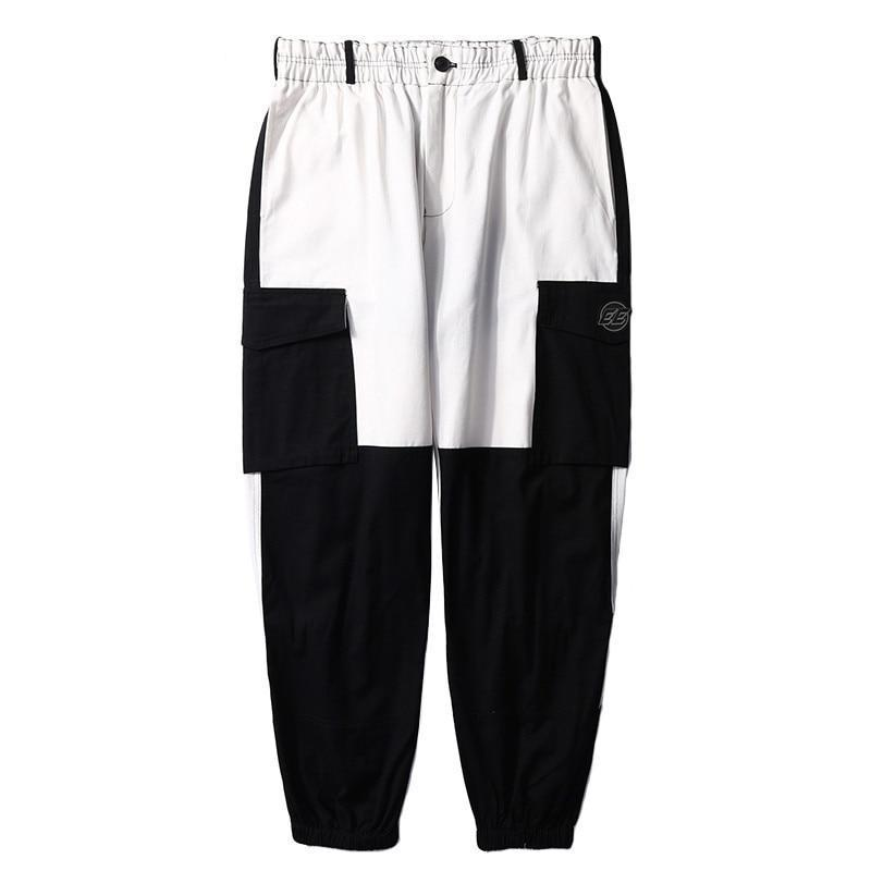 Chino with Cuffed Hem in Contrast Color Block - CLOUT COLLECTION