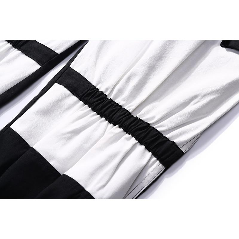 Chino with Cuffed Hem in Contrast Color Block - Clout Collection High Fashion Streetwear Men's and Women's