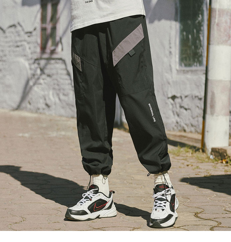 Eternal Life Joggers in Black or Stone - Clout Collection High Fashion Streetwear Men's and Women's