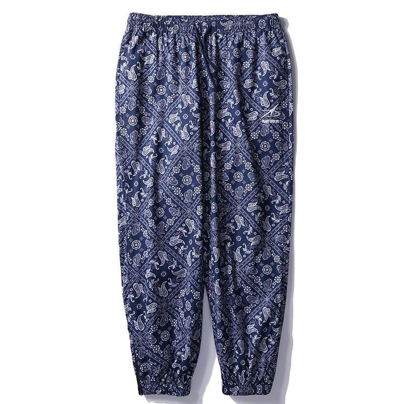 Casual Pants with Retro Bandanna Print - Clout Collection High Fashion Streetwear Men's and Women's