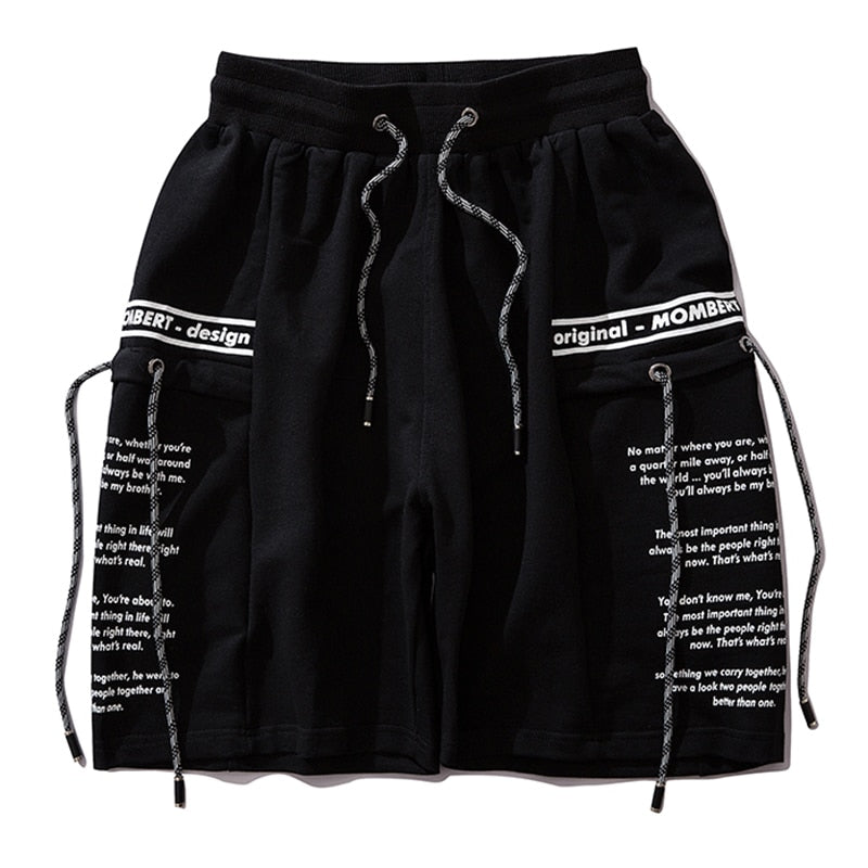 Mombert Sweat Shorts in Black or Gray - CLOUT COLLECTION