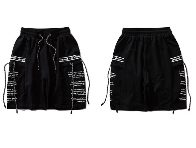 Mombert Sweat Shorts in Black or Gray - Clout Collection High Fashion Streetwear Men's and Women's