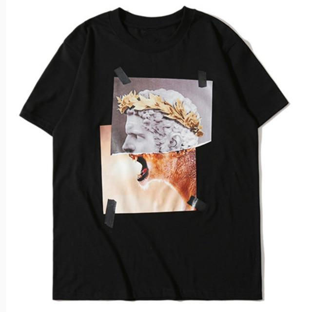 Man or Beast Graphic Print T-Shirt - CLOUT COLLECTION