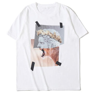 Man or Beast Graphic Print T-Shirt - Clout Collection High Fashion Streetwear Men's and Women's