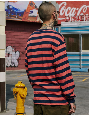 Extreme Aesthetic Long Sleeve Striped T-Shirt - CLOUT COLLECTION