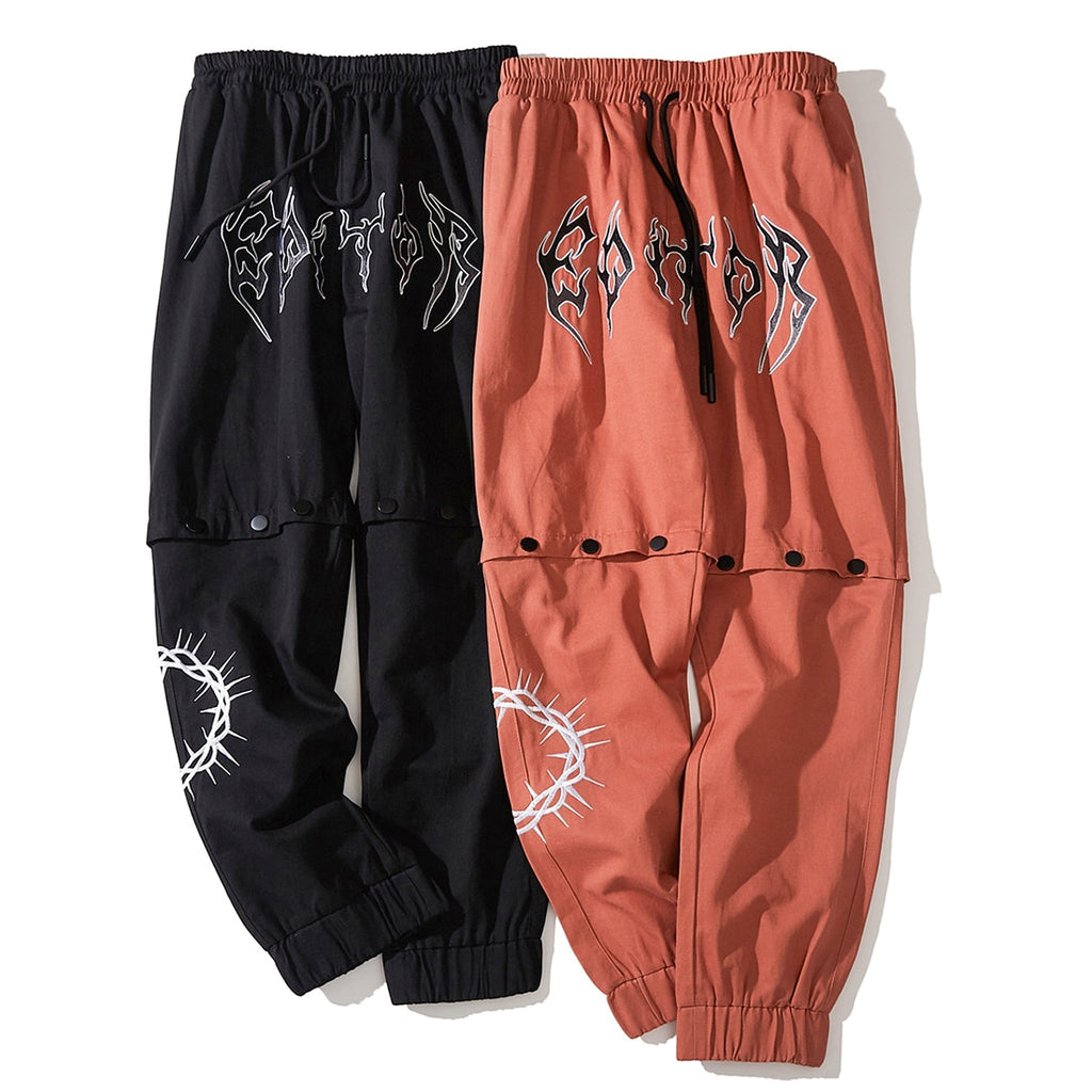 Editor Metal Logo Convertible Pants - CLOUT COLLECTION