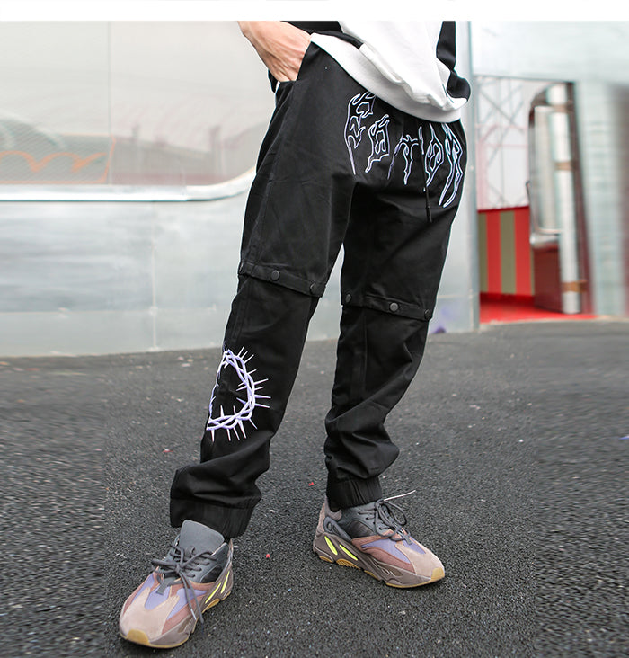 Editor Metal Logo Convertible Pants - Clout Collection High Fashion Streetwear Men's and Women's