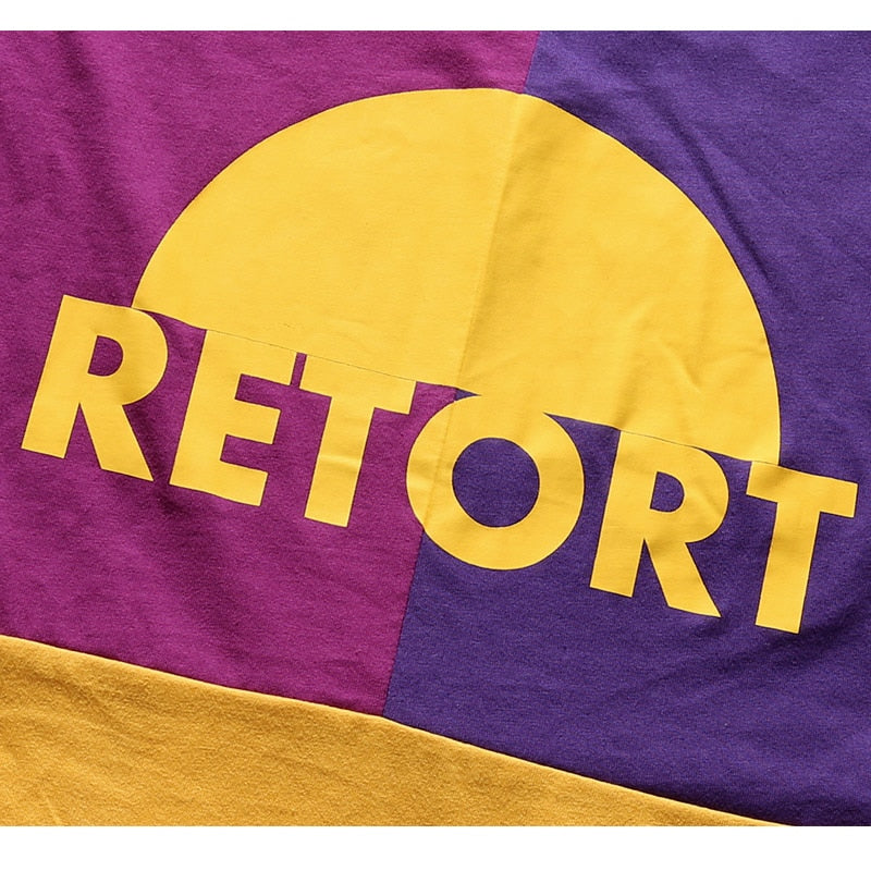 Retort Graphic T-Shirt in Color Block - CLOUT COLLECTION