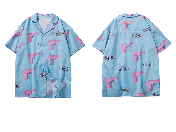 Internet Silk Button Down - Clout Collection High Fashion Streetwear Men's and Women's