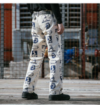 Extreme Aesthetic Casual Pants in Liberty Print - CLOUT COLLECTION