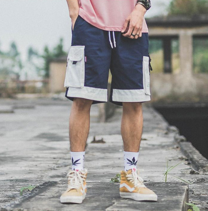 SubCrude Cargo Shorts with 3D Pockets - CLOUT COLLECTION