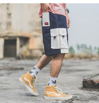 SubCrude Cargo Shorts with 3D Pockets - Clout Collection High Fashion Streetwear Men's and Women's