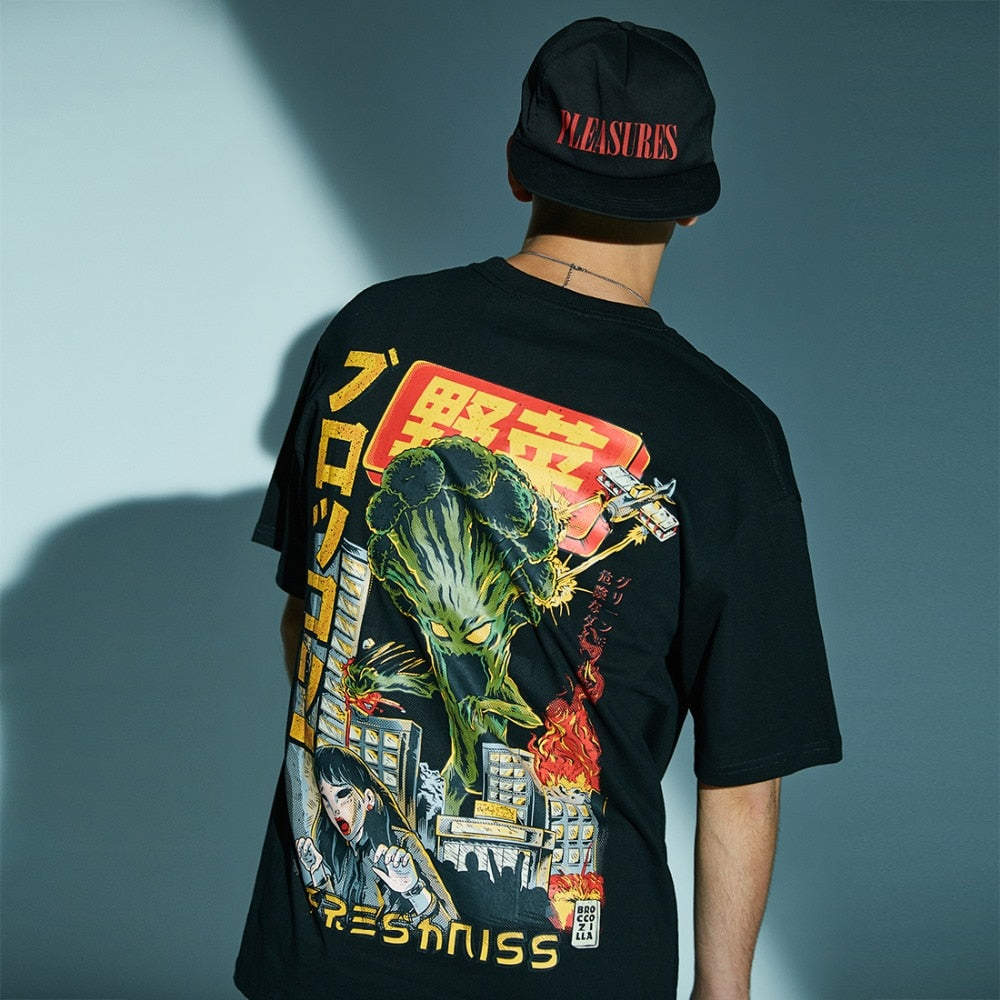 Fresh'Niss Original Graphic T-Shirt with Mutated Broccoli Print - CLOUT COLLECTION