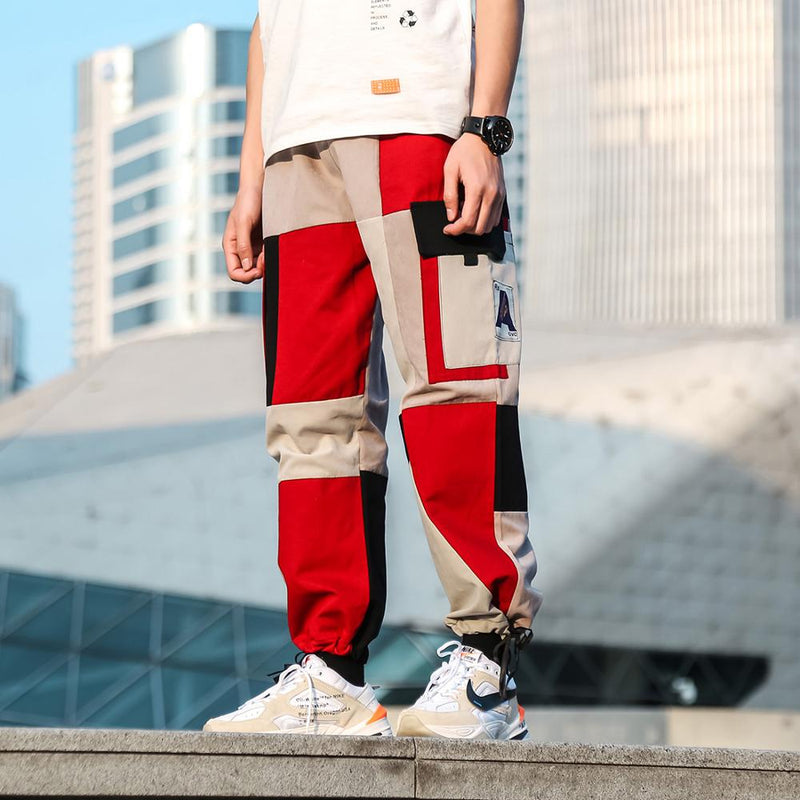 Casual Pants in Retro Color Block - CLOUT COLLECTION