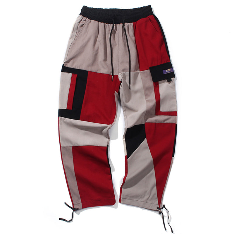 Casual Pants in Retro Color Block - Clout Collection High Fashion Streetwear Men's and Women's