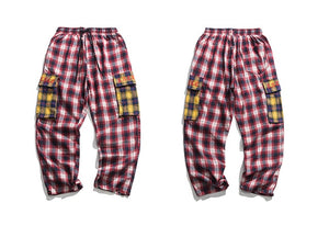 Clout Collection Adjustable Sweatpants in Plaid - Clout Collection High Fashion Streetwear Men's and Women's