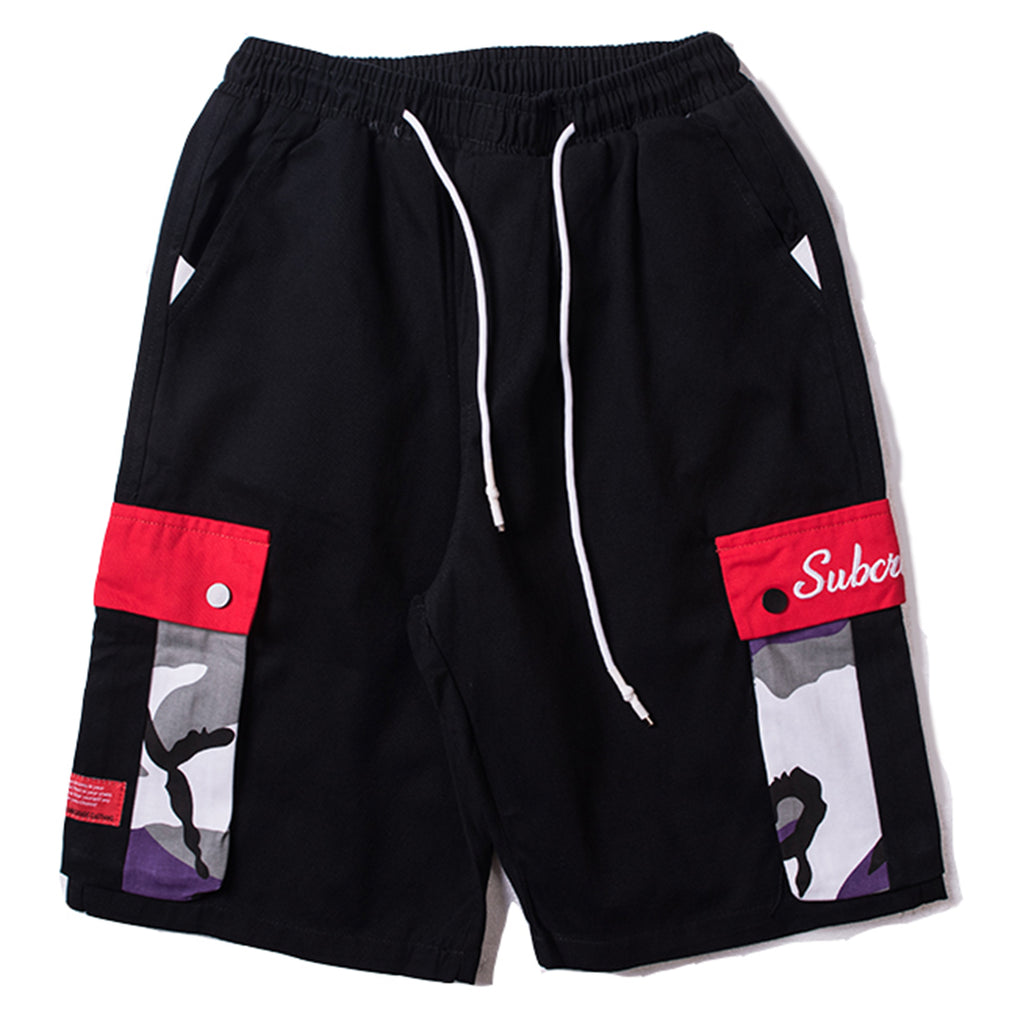 SubCrude Multi-Pocket Sweat Shorts - Clout Collection High Fashion Streetwear Men's and Women's