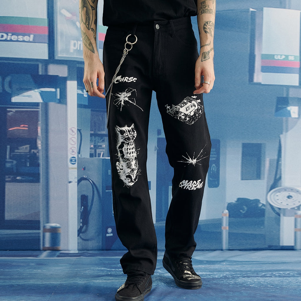Extreme Aesthetic Customized Jeans - Clout Collection High Fashion Streetwear Men's and Women's