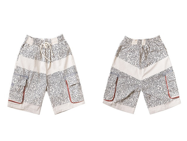 Casual Shorts in Contrast Particle - CLOUT COLLECTION
