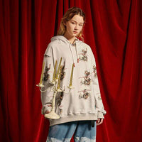 Disintegration Pullover Hoodie in Cherub Print - Clout Collection High Fashion Streetwear Men's and Women's
