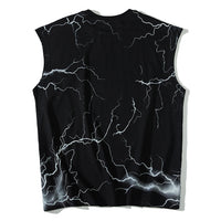 Sleeveless T-Shirt with Editor Metal Logo Print - CLOUT COLLECTION