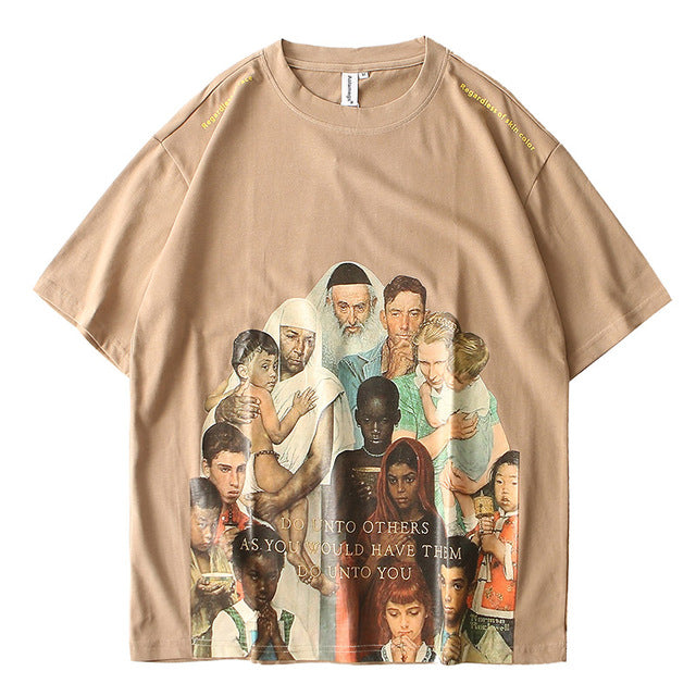 Golden Rule Graphic T-Shirt - Clout Collection High Fashion Streetwear Men's and Women's