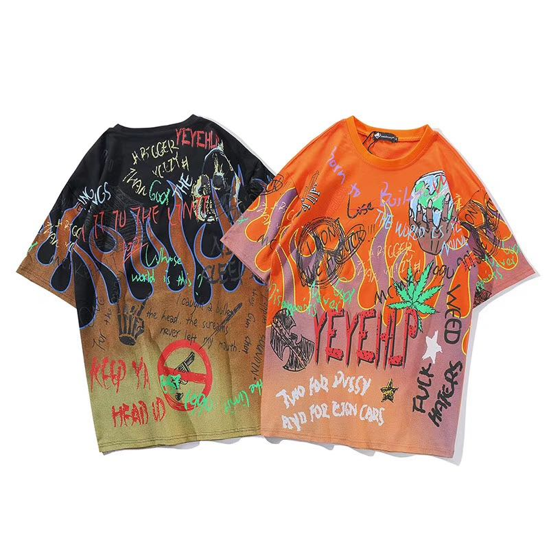 Virgil Abstract Print Graphic T-Shirt - Clout Collection High Fashion Streetwear Men's and Women's