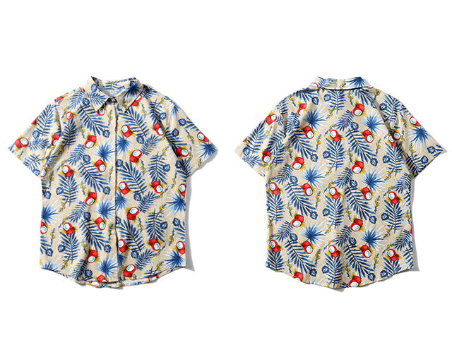 Classic Hawaiian Silk Button Down - Clout Collection High Fashion Streetwear Men's and Women's