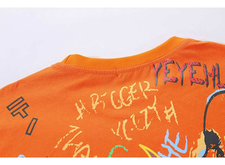 Virgil Abstract Print Graphic T-Shirt - CLOUT COLLECTION