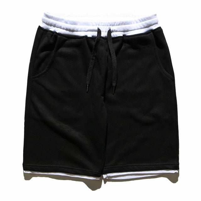Drawstring Sweat Shorts - Clout Collection High Fashion Streetwear Men's and Women's