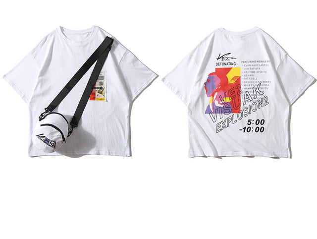 Visual Explosion Pocket Tee with Shoulder Bag Included - Clout Collection High Fashion Streetwear Men's and Women's